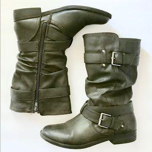Report Gray Moto Boots